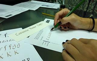 taller para iniciarte a la caligrafia